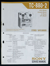Sony tc-880-2 Original bandmschine/Stéréo TAPECORDER service-manual/Diagram o147