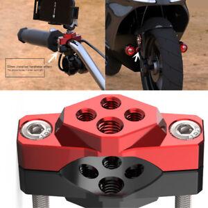 CNC Motorcycle Bumper Bar Bracket Mount Base Clamp M8+M6 Adapter for Light Lamp