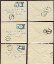 TRINIDAD + TOBAGO 1946 AROUCA ARIMA BELMONT POSTMARKS on VICTORY 6c to POLICE HQ