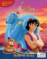 Disney Aladdin My Busy Book with10 Character Figurines & Playmat,Brand New