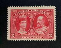 Canadian Stamp, Scott #98 2c 1908 Quebec Tercentenary Issue M/NG