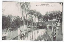 Rue du Filoir et les Bords de l'Epte Gisors Eure France 1910c postcard
