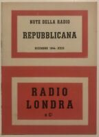 """RSI """" RADIO LONDRA E Ci."""" libro Repubblica Sociale Italiana dicembre 1944 XXIII°"""