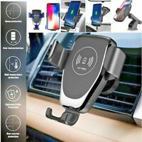 QUICK FAST CAR MOUNT WIRELESS CHARGER HOLDER FOR APPLE IPHONE 8 PLUS X XR XS MAX