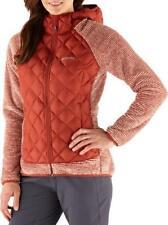 New Nwt Columbia Women's Techy Hybrid Fleece Jacket Xsmall Orange Soft
