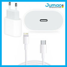 Chargeur USB-C 18W+Câble 1M Type C-Lightning Blanc compatible iPhone 11 Pro Max