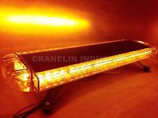 "760MM 31"" 56W 56 LED WORK LIGHT BAR BEACON RECOVERY FLASHING STROBE LIGHTS AMBER"