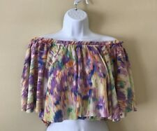 NWT Off The Shoulder Multi Colored Crop Top