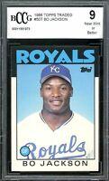1986 Topps Traded #50T Bo Jackson Card BGS BCCG 9 Near Mint+