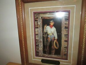 "Art Gordon Snidow Cowgirl ""I Don't Do Windows"" Double Matted XLNT Frame Choice"