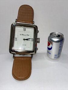 "15"" LONDON SIR WILLIAM & SMITH Three Hands Corp CLOCK ""Wrist Watch""Large"