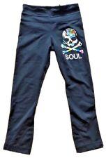 LULULEMON SOULCYCLE Run Inspire Crop Pants sz 2 Black w Splatter Skull EUC Yoga