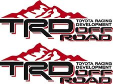 TOYOTA TRD Off Road Mountain / PAIR / Red and Black Vinyl Vehicle Decals