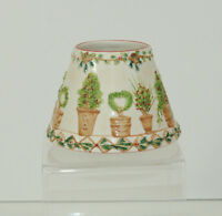 Yankee Candle Small Jar Candle Shade Christmas Holiday Topiary Ceramic