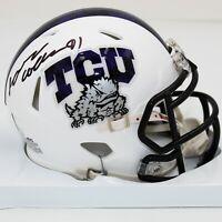 L. J. Collier Signed Riddell TCU Horned Frogs Speed Mini Helmet (JSA COA)