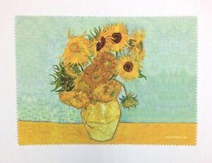 Lens cloth - Microfiber - Fine Art Design: Vase of Sunflowers by Van Gogh