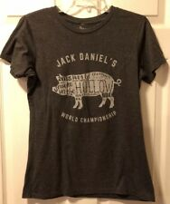 Womens Jack Daniels Whiskey Smoke In The Hollow World Champion Graphic T-shirt L