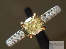 .46ct Fancy Light Yellow VS1 Cushion Cut GIA Beautiful R3440 Diamonds by Lauren