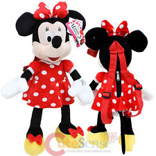 "Disney Minnie Mouse Red Plush Doll Backpack Costume Bag -22"" Red Bow"