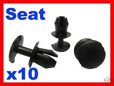 10 SEAT LEON IBIZA auto auto plastica fissaggio clip di bloccaggio mascherina