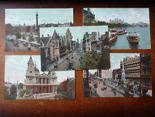 Lot86c 5x LONDON Views St PAULS Trafalgar CHARING CROSS Fleet St Postcard c1907