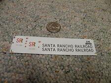 Herald King decals HO Santa Rancho Railroad black red   XX357