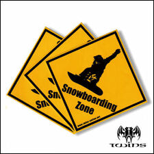 Set 3 adesivi Snowboarding Zone adesivo 10cmx10cm Snow Snowboard tavola