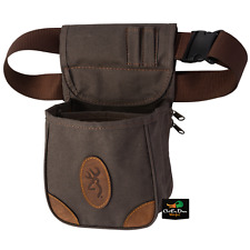 NEW BROWNING LONA CANVAS AND LEATHER SHELL CARRIER POUCH FLINT BUCKMARK LOGO