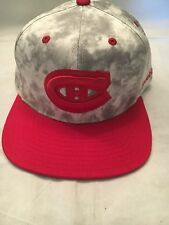 Montreal Canadiens NEW Flat Bill Snap Back Hat . NHL Hockey Cap Reebok NWT Fan