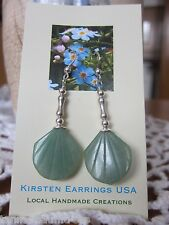 EARRINGS Gemstone Hand Made in America Kirsten 925 Silver Drop Dangle Aventurine
