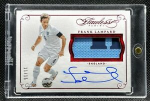 2015-15 Panini Flawless =Frank Lampard= RUBY Patch Auto #'d /15 England Chelsea