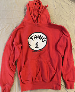 thing 1 thing 2 Sweater Hoodie Univeral Studio Red S Dr Suess