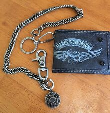 Harley-Davidson willie g wallet /Harley wallet chain package