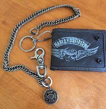 NEW-Harley-Davidson Willie G wallet /Harley chain