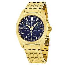 Tissot PRC 100 Blue Dial Yellow Goldtone Chronograph Quartz Watch T22568641