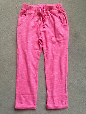 BNWT NEXT Girls Coral White Stripe Casual Trousers 3-4 Years 104cm