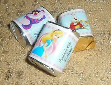 ALICE IN WONDERLAND PERSONALIZED HERSHEY's NUGGET WRAPPERS BIRTHDAY PARTY FAVORS