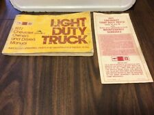 New Listing1977 Chevrolet Light Duty Truck Owner's & Driver's Manual & maintenance schedule