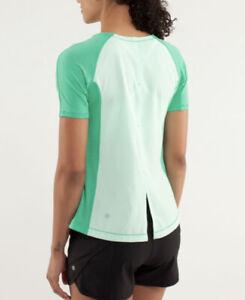 Lululemon Run: Silver Lining Short Sleeve Green