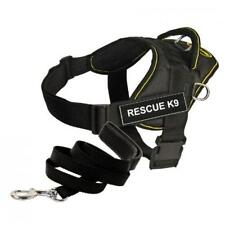 Dean & Tyler Bundle One DT Fun Works Harness Rescue K9 Yellow Trim XXSMALL B10