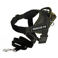 Dean & Tyler Bundle One DT Fun Works Harness Rescue K9 Yellow Trim XXSMALL B10