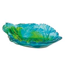 Jungle Bowl by Daum of France - NIB - Turquoise & Green - STUNNING