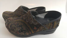 Dansko Floral Womens Size 37 EU 6.5-7 US Slip-On Mule Clogs Wedge Walking Shoes