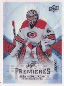 17-18 UD Ice Alex Nedeljkovic /999 Rookie Premieres Red Wings 2017