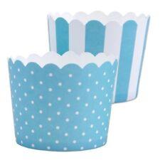 MINI Muffinförmchen Cupcake Papier Cups türkis weiß Muffin Städter 12 S