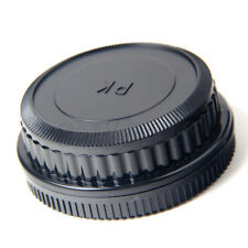 Camera Body + Rear Lens Cap for Pentax K mount PK K20D K10D K200D K100 DE