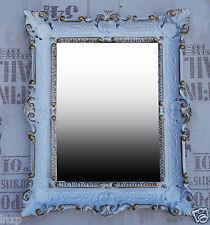 Wall Mirror White Gold Antique Baroque Bathroom Hall Vanity 56x46 2