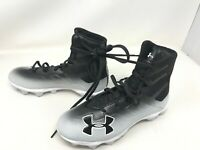 C1N MC white//gray Football Cleats 9L 3021199-102 Boys Under Armour