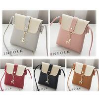 Women Shoulder Bag PU Leather Handbag Messenger Crossbody Satchel Purse Lot D