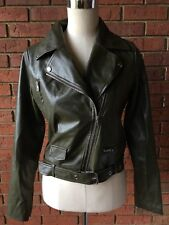 Pretty Little Thing Vegan Leather Biker Moto Motor Jacket Size US2 UK6